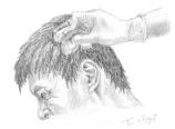 plaie scalp compression