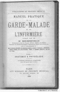 manuel de la garde malade et de l'infirmière, Bourneville