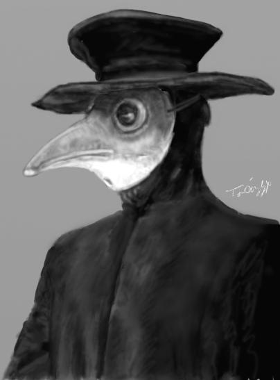 Histoire peste masque bec de corbin