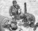 Seconde Guerre Mondiale blesse infirmier