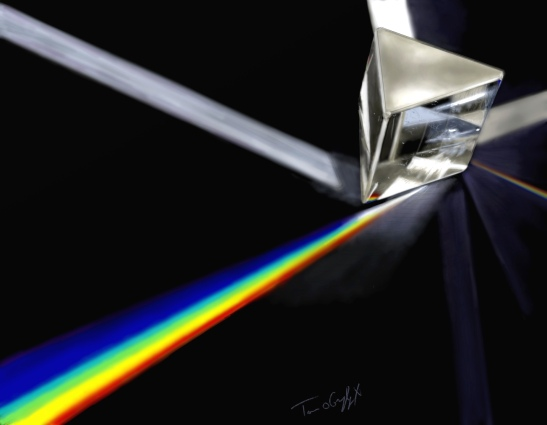 prisme spectre lumiere