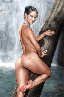 nude waterfall