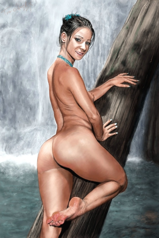 nude waterfall